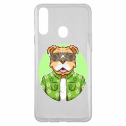 Чохол для Samsung A20s A dog with glasses and a shirt