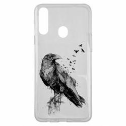 Чохол для Samsung A20s A pack of ravens