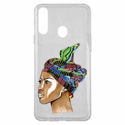 Чохол для Samsung A20s African girl in a color scarf
