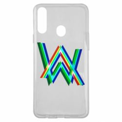 Чехол для Samsung A20s Alan Walker multicolored logo