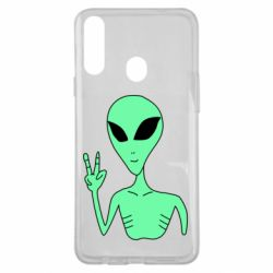 Чехол для Samsung A20s Alien and two fingers