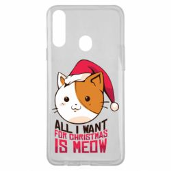 Чехол для Samsung A20s All i want for christmas is meow