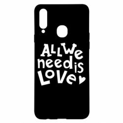 Чехол для Samsung A20s All we need is love