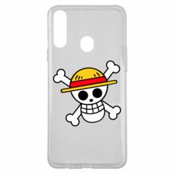 Чохол для Samsung A20s Anime logo One Piece skull pirate