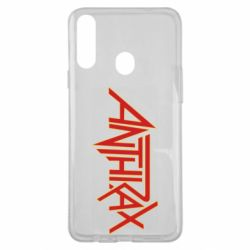 Чехол для Samsung A20s Anthrax red logo