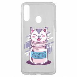 Чехол для Samsung A20s AntiDepressant Cat
