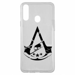 Чехол для Samsung A20s Assassin's Creed and skull 1