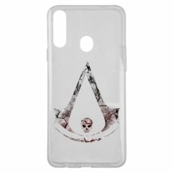 Чехол для Samsung A20s Assassins Creed and skull