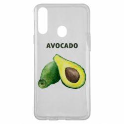 Чехол для Samsung A20s Avocado watercolor