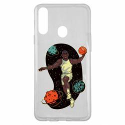 Чехол для Samsung A20s Basketball player and space