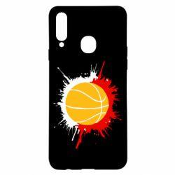 Чехол для Samsung A20s Баскетбольный мяч