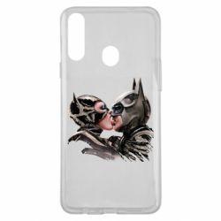 Чехол для Samsung A20s Batman and Catwoman Kiss