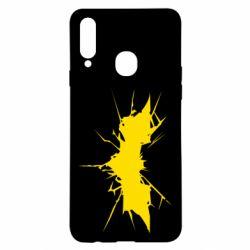Чохол для Samsung A20s Batman cracks