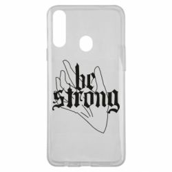 Чехол для Samsung A20s Be strong lettering
