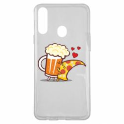 Чохол для Samsung A20s Beer and Pizza were kissed