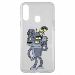 Чохол для Samsung A20s Bender and the heads of robots