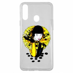 Чехол для Samsung A20s Black and yellow clown