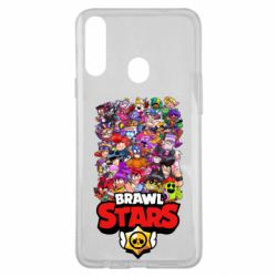 Чехол для Samsung A20s Brawl Stars all characters art