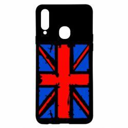 Чехол для Samsung A20s Британский флаг