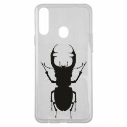 Чехол для Samsung A20s Bugs silhouette