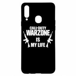 Чехол для Samsung A20s Call of duty warzone is my life M4A1