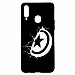 Чохол для Samsung A20s Captain America shield