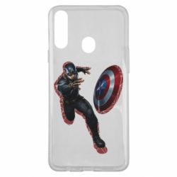 Чехол для Samsung A20s Captain america with red shadow