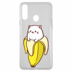 Чехол для Samsung A20s Cat and Banana