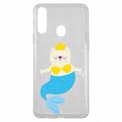 Чохол для Samsung A20s Cat-mermaid