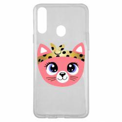 Чехол для Samsung A20s Cat pink