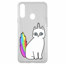 Чехол для Samsung A20s Cat Unicorn