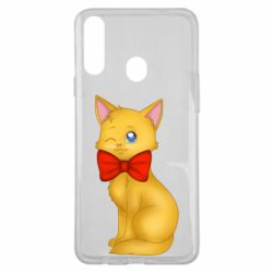 Чохол для Samsung A20s Cat with a bow
