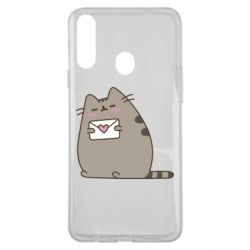 Чохол для Samsung A20s Cat with a letter