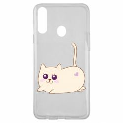Чехол для Samsung A20s Cat with a smile