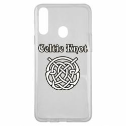 Чохол для Samsung A20s Celtic knot black and white