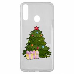 Чехол для Samsung A20s Christmas tree and gifts art