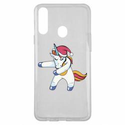 Чохол для Samsung A20s Christmas Unicorn
