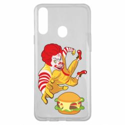 Чехол для Samsung A20s Clown in flight with a burger