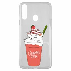 Чохол для Samsung A20s Cocktail cat and strawberry