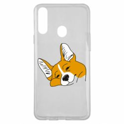 Чохол для Samsung A20s Corgi is dozing