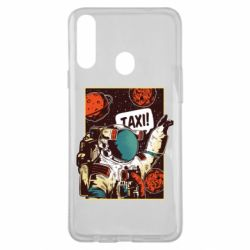 Чехол для Samsung A20s Cosmonaut and taxi