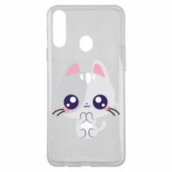 Чохол для Samsung A20s Cute cat with big eyes