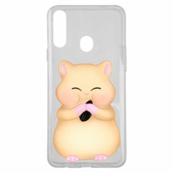Чохол для Samsung A20s Cute hamster with sunflower seed