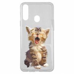 Чохол для Samsung A20s Cute kitten vector