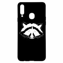 Чохол для Samsung A20s Cute raccoon face