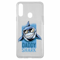 Чехол для Samsung A20s Daddy shark