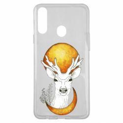 Чехол для Samsung A20s Deer and moon