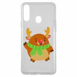 Чехол для Samsung A20s Deer in a scarf