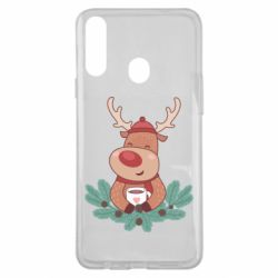 Чехол для Samsung A20s Deer tea party