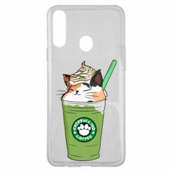 Чехол для Samsung A20s Delicious cat